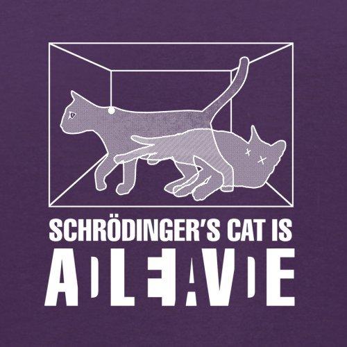 Schrödinger's Cat - Herren T-Shirt - 13 Farben Lila