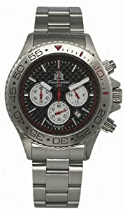 German diver CHRONOGRAPH 20ATM and metallband T111