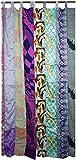 Guru-Shop Vorhang (1 Stk.) Gardine aus Patchwork Sareestoff, Unikat - Patchwork Bunt, Mehrfarbig, Synthetisch, 240x100 cm, Dekovorhänge