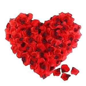 ETEREAUTY Rosenblätter, 3000 Stück Rosenblüten – Dekoration für Romantische Atmosphäre und Hochzeit Party, Valentinstag…
