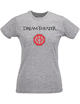 Camiseta Mujer Slim Dream Theater - Maglietta 100% algodòn ring spun LaMAGLIERIA