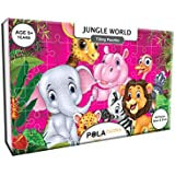 Pola Puzzles Jungle World Tiling Puzzles 60 Pieces For Kids Age 5 Years And Above Multi Color Size 36CM X 21CM Jigsaw Puzzles For Kids