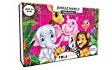 #3: Pola Puzzles Jungle World Tiling Puzzles 60 Pieces For Kids Age 5 years and above Multi Color Size 36CM X 21CM Jigsaw Puzzles for Kids