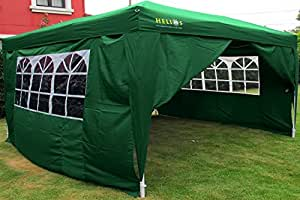 helios deluxe gartenpavillon mit 4 seitenteilen 3x3 m wasserdicht mit. Black Bedroom Furniture Sets. Home Design Ideas