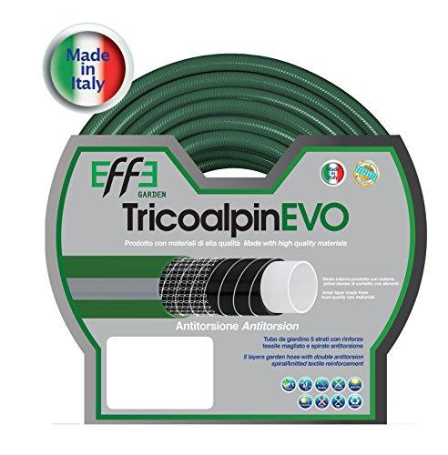 Tubo da Giardino antitorsione professionale 5/8 pollici, mt 50 di Tubo da Giardino 5 strati, Tubo per Irrigazione da Giardino, Made in Italy
