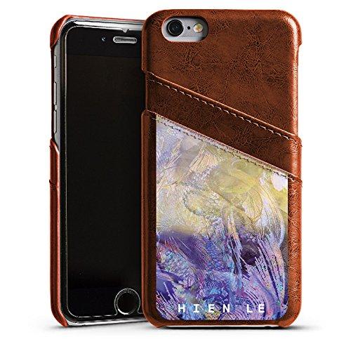 Apple iPhone 5s Housse Étui Protection Coque HIEN LE Poisson rouge Design Étui en cuir marron