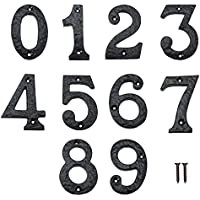 Securit Black Cast Iron Antique House Front Door Numbers 0-9 1  sc 1 st  Amazon UK & Amazon.co.uk | House Numbers