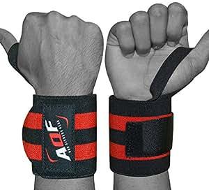 "AQF Super Heavy Duty Wrist Wraps Supports Wrist Straps Gym Training Fist Strap 13"" Black"