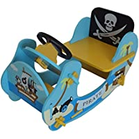 Kiddi Style Children's Pirate Wooden Rocker Ride On Boat,  69 x 34 x 44 cm