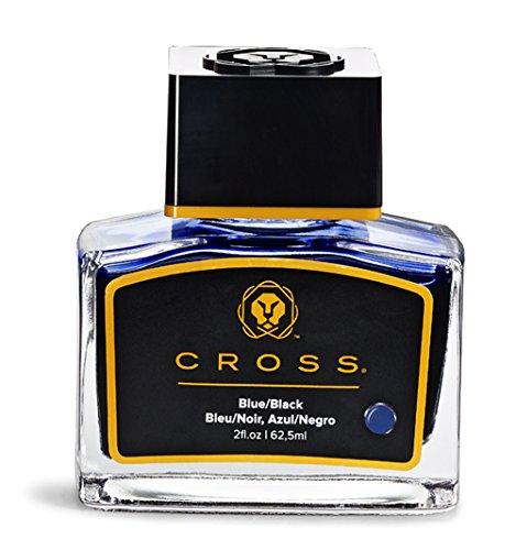 A. T. Cross Tinte für Füllhalter Tintenfass Cross FH-Tinte im Glas blau-schwarz, mit 62,5 ml