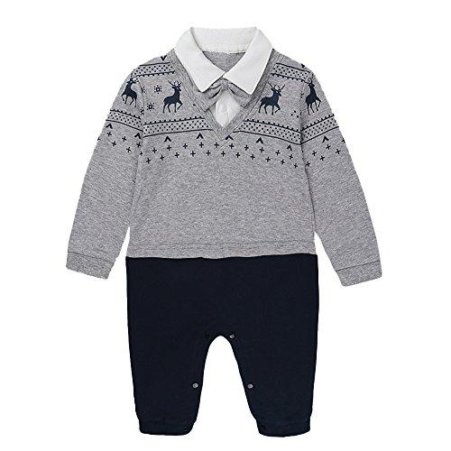 Babykleidung Satz, LANSKIRT Neugeborenes Baby Overall Jungen Mädchen Strampler Long Sleeve Deer Print Outfit Kleidung 0-24 Monate