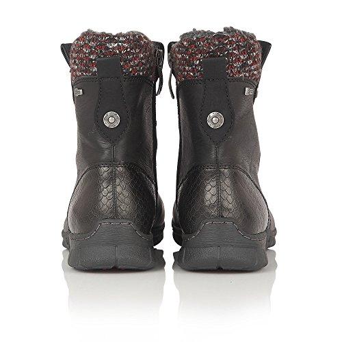 Lotus Relife Ruka Black & Multi Ankle Boots Multi & Black