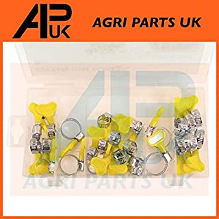 26pc Assorted Key Hose Clamps Jubilee Type Clips Adjustable Wing Butterfly nut