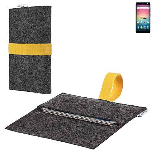 flat.design vegane Handy Hülle Aveiro für Allview V3 Viper passgenaue Filz Tasche Case Sleeve Made in Germany