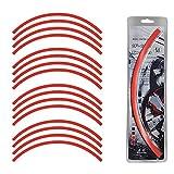 #9: Speedwav 14-16 Inch Car Rim Stickers for 4 Rims-Red