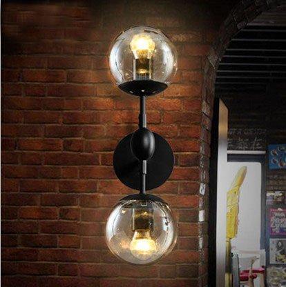 ZQ@QX Traditionelle dekorative Wand Lampe einfache Hotel-Café Restaurant Wand Lampe Retro-Kugel Glas Wandleuchte