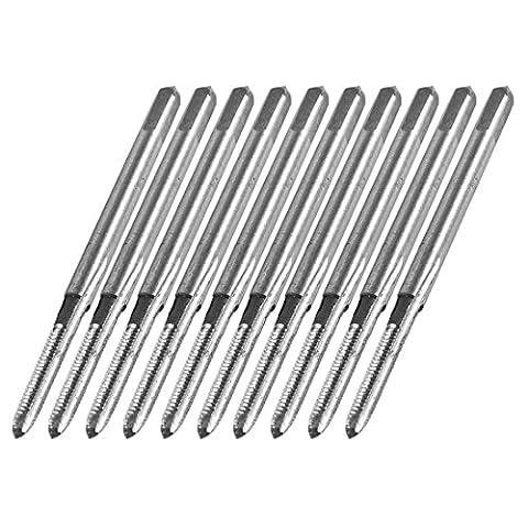 10 Pcs 44mm HSS 3 Flutes Hand Screw Thread Straight Metric Plug Tap