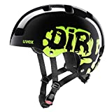 Uvex Kinderfahrradhelm Kid 3 Sonderedition, Dirtbike Black-Lime, Gr. 51-55 cm