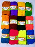 #4: Yashika Best Quality Yarn Multi Colour - Pack of 12