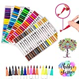Best Brush Tip Markers - Dual Tip Brush Marker Pens, 100 Vivid Colours Review