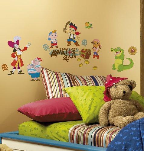 Preisvergleich Produktbild RoomMates 54529 RM - Disney Jake und die Piraten Wandtattoo, PVC, bunt, 13 x 2,5 x 27 cm