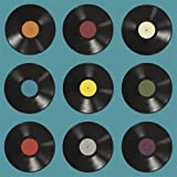 20 servetten vinyl platen/retro/feest/muziek 33x33cm
