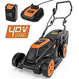 Tacklife Lawn Mower, 40V Cordless Lawn Mower 3-in-1, Cutting Width 38 cm, 6