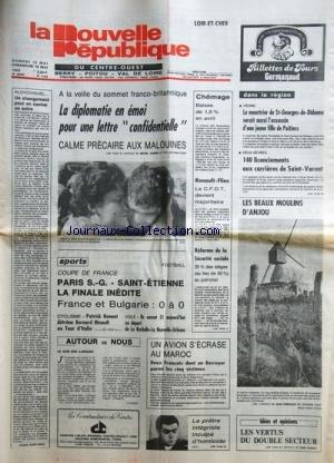 NOUVELLE REPUBLIQUE (LA) [No 11434] du 15/05/1982 ...