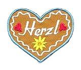 2 Aufnäher Bügelbild Aufbügler Iron on Patches Applikation Herz Herzl 5 x 4cm vor148-1