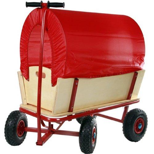 Jago Bollerwagen Transportwagen Handwagen mit abnehmbarer Plane Schutzdach