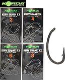 Korda Kurv Shank XX Haken Karpfenhaken (10 Stück), Angelhaken zum Karpfenangeln, Haken zum Karpfenfischen, Haken für Karpfen