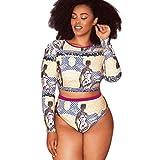 Bikini Trajes de baño Mujer, ☀ ☀ Manadlian 2018 Bikini para mujer Talla extra Push Up Swimsuit Ropa de playa acolchada Monokini Trajes de baño (CN:XXL, Amarillo)