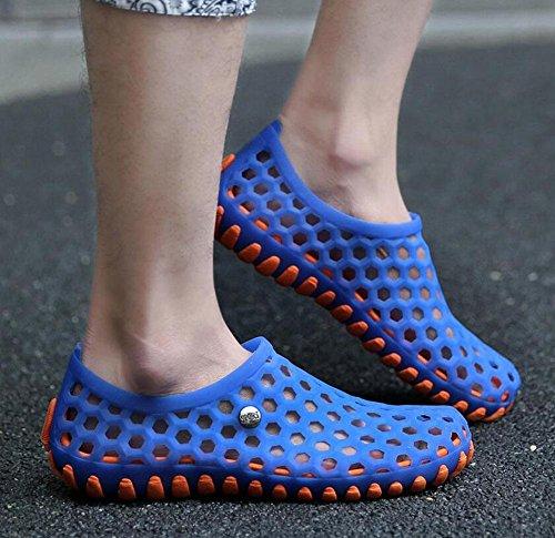 GLTER Casual Clogs Sandali Respirabili Sandali di estate nuovi uomini Scarpe di moda Sandali di colore Candy Gentleman blue yellow
