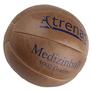 trenas Original Medizinball aus Leder – Studioqualität
