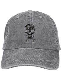 a0b361f68b317 Gorras de béisbol de Sugar Skull Simple Disponible para Hombres y Mujeres  Ash