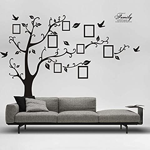 Longra Wandaufkleber 180 * 250cm 3D DIY Foto Baum PVC Wand Aufkleber Kleber Wand Aufkleber Wandbild Kunst Home Decor Wandtattoo Wandsticker (A)