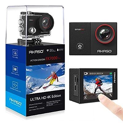 AKASO Action Kamera EK7000 Serien 4K Action Cam Sportkamera Unterwasserkamera mit Zubehöre