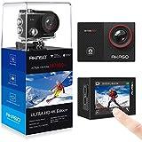 AKASO 4K Action Kamera EK7000 Pro Action Cam mit Touchscreen EIS Einstellbarer Blickwinkel 40m Unterwasserkamera mit Fernbedienung Sportkamera mit 25 Zubehöre(aktualisierte Version von EK7000)