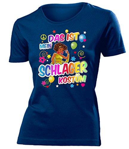 uen T-Shirt Karneval Fasching Motto Schlager Party Geschenk Geburtstag Karnevalskostüm Gruppenkostüm Paar Disco deko Brille ()