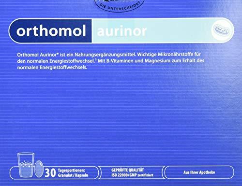 Orthomol aurinor 30er Graunlat & Kapseln - Nahrungsergänzungsmittel - Vitamine für Energiestoffwechsel & Nervenfunktion -