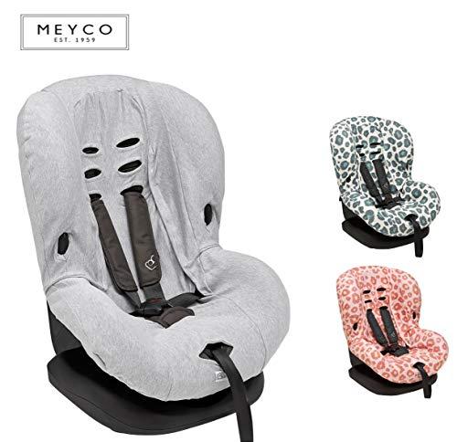 Meyco Baby ** Kuschelig weicher UniversalBezug/SchonBezug ** 100% atmungsaktive Baumwolle ** 3 UND 5 Punkt Gurt System ** Größe 1 z.B. für Maxi-Cosi Priori/SPS/XP u.a. (Grey)