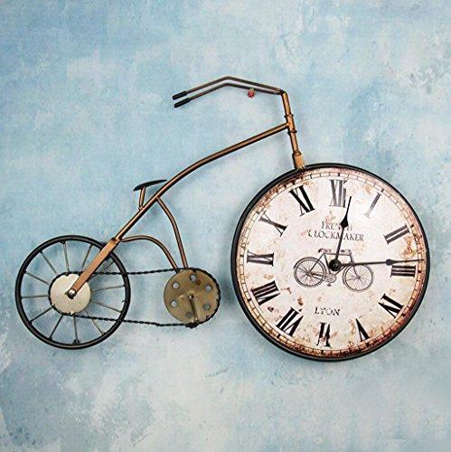 BiuTeFang Reloj de Pared Silencioso,Moderno Decorativo Creativo Bicicletas...