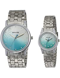 Sonata Analog Multi-Colour Dial Couple Watch -NK10138925SM01