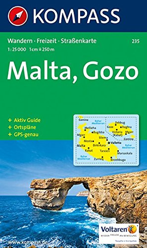 carta-escursionistica-n-235-malta-e-isole-lipari-malta-gozo-125000-adatto-a-gps-dvd-rom-digital-map