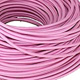Cordon en tissu tressé flexible antique, industriel en tissu électrique, style vintage, fils de câble de lampe 5/10 m, 3 fils ronds 0,75 mm