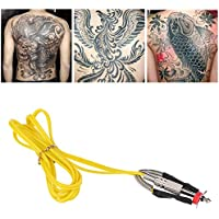 Tatuaje Clip Cord para Tattoo Machines Linea de alimentación 1,8m 71pulgadas suave silicona amarillo