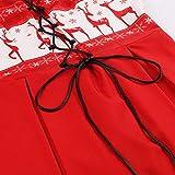 KPILP Midi Swing Dress Damen Übergröße Weihnachten Sleeveless Elegant Deer Vintage Xmas Party Porm Prinzessin Kleid?Rot,EU-38/CN-M? Test