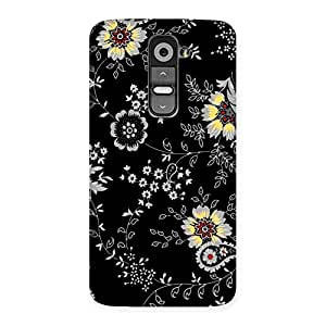 Cute Classic Flower Back Case Cover for LG G2