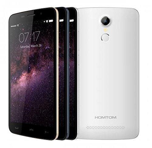 Nuovi rilasciato HOMTOM HT17 Android 6.0 Smartphone 4G 5.5 pollici HD riconoscimento delle impronte digitali a 64 bit MTK6737 Quad Core 7,9 millimetri di spessore (bianca)