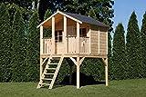 Stelzenhaus Tobi - Großes Spielhaus für Kinder aus Holz, ideal für den Garten - TÜV geprüft